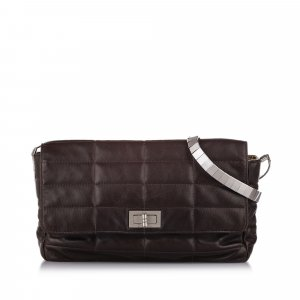 Chanel Shoulder Bag brown leather