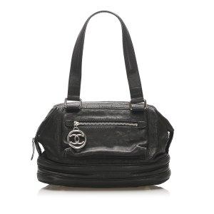Chanel Chocolate Bar Leather Handbag