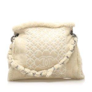Chanel Chocolate Bar Mouton Shoulder Bag