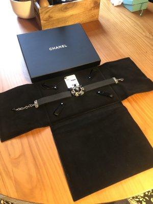 Chanel Collier Necklace black-silver-colored