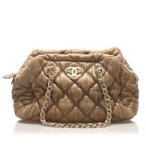 Chanel Classic Bubble Lambskin Leather Shoulder Bag