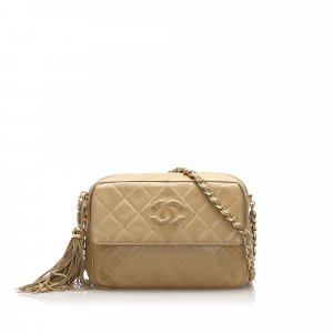 Chanel Classic CC Lambskin Leather Crossbody Bag
