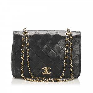Chanel Classic CC Lambskin Leather Flap Bag