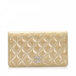 Chanel Portafogli beige Finta pelle