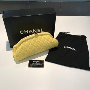 Chanel Classic Clutch Tasche Gelb OVP Original mit Rechnung