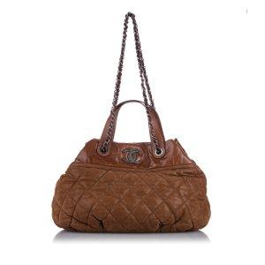Chanel Sacoche brun cuir