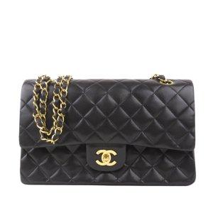 Chanel Sac porté épaule noir cuir
