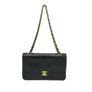 Chanel Gekruiste tas zwart Leer