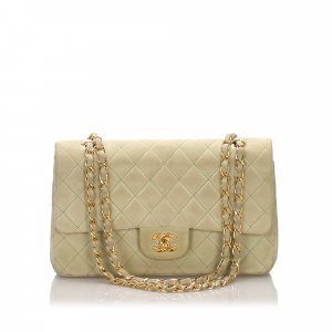 Chanel Classic Medium Nubuck Leather Double Flap Bag