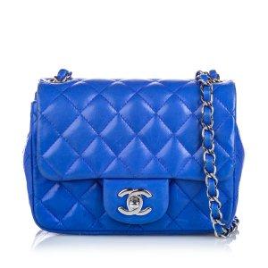 Chanel Classic Mini Square Lambskin Leather Single Flap Bag