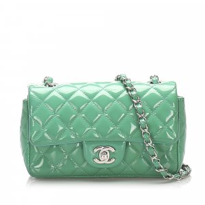Chanel Classic New Mini Patent Leather Flap Bag