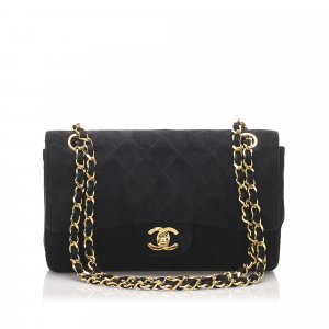 Chanel Classic Small Suede Double Flap Bag