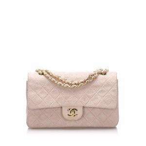 Chanel Classic Small Suede Leather Double Flap Bag