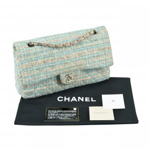 CHANEL Classic Tweed Double Flap Bag @mylovelyboutique.com
