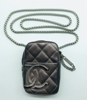 Chanel Borsa a spalla marrone scuro