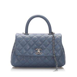 Chanel Cartella azzurro Pelle