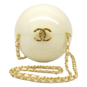 Chanel Borsa a tracolla bianco Materiale sintetico