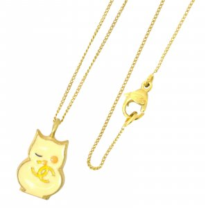 Chanel Coco Mark Owl Chain Necklace