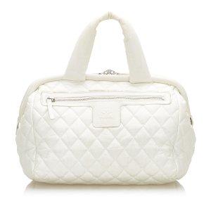 Chanel Handtas wit Nylon