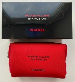 Chanel Makeup Bag red spandex