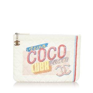 Chanel Cuba Cruise Line Leather Clutch Bag