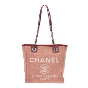 Chanel Schoudertas rosé Textielvezel