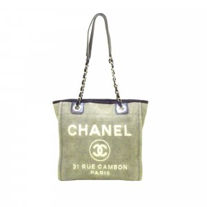 Chanel Borsa larga verde
