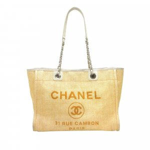 Chanel Borsa larga marrone chiaro