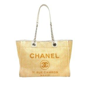 Chanel Sac fourre-tout marron clair