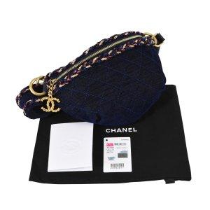 CHANEL Demin Waist Bag Handtasche Dunkelblau Marine Timeless @mylovelyboutique.com