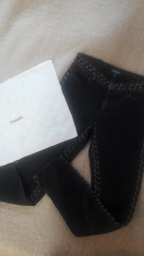 Chanel Vaquero de corte bota gris antracita