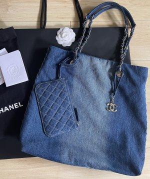 Chanel Tote cornflower blue denim