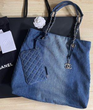 Chanel Tote korenblauw Denim