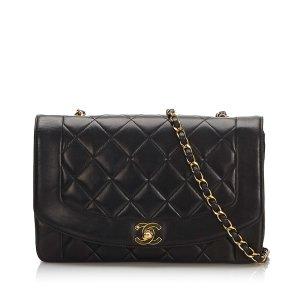 Chanel Bolsa de hombro negro Cuero