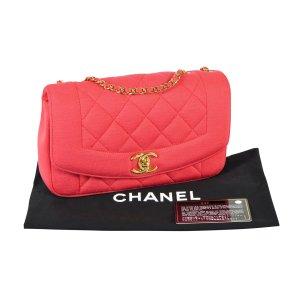 CHANEL Diana Jersey Flap Bag Handtasche Coral Koralle Timeless @mylovelyboutique.com