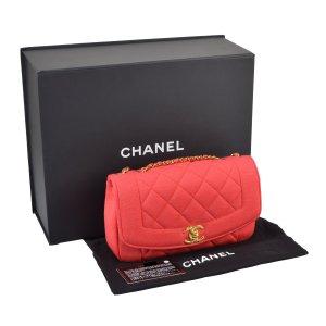 CHANEL Diana Jersey Flap Bag Koralle Coral Handtasche @mylovelyboutique.com