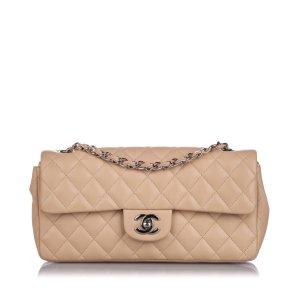 Chanel Borsa a tracolla beige Pelle