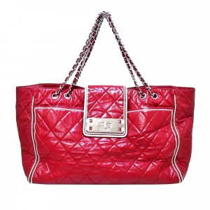 Chanel Tote rood Leer