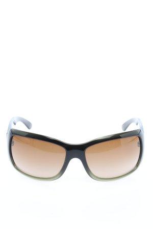 Chanel Hoekige zonnebril zwart casual uitstraling