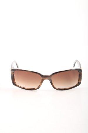 Chanel Lunettes de soleil angulaires brun motif léopard style d'affaires