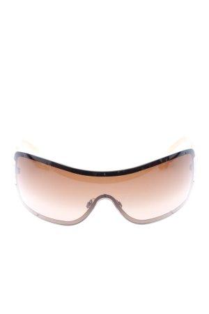 Chanel Gafas de sol cuadradas crema estilo «business»