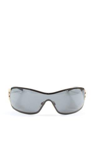 Chanel Lunettes de soleil angulaires noir style décontracté