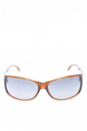 Chanel eckige Sonnenbrille hellorange Casual-Look