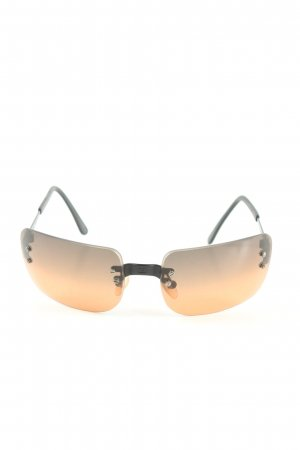 Chanel Angular Shaped Sunglasses black-light orange color gradient casual look