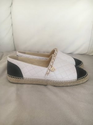 Chanel Espadrille Sandals white leather