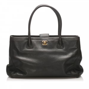 Chanel Executive Cerf Caviar Leather Tote Bag