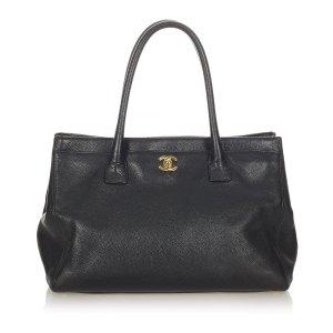Chanel Executive Cerf Leather Handbag