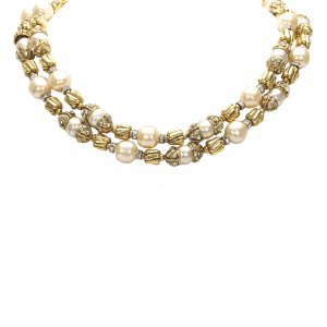 Chanel Faux Pearl Necklace