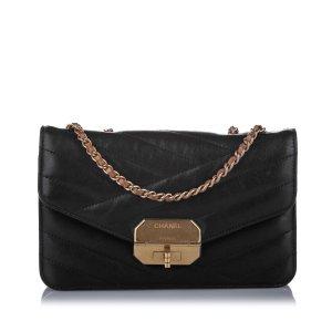 Chanel Sac bandoulière noir cuir