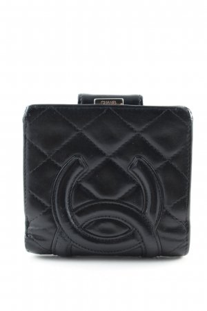 Chanel Cartera negro estampado acolchado estilo «business»